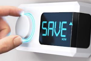 Thermostat saving energy